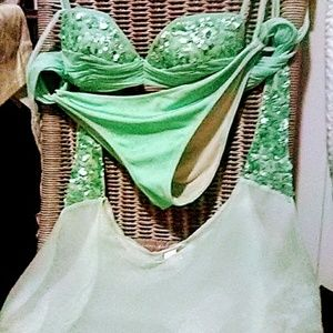 La Perla mint green bathing suit